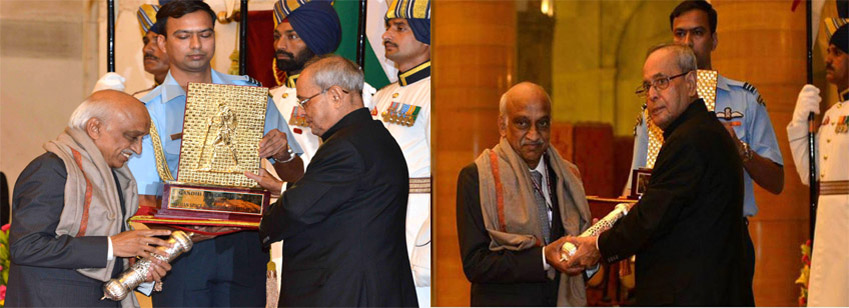 Gandhi Peace Prize – 2014 awarded to ISRO in a glittering ceremony at Rashtrapati Bhawan