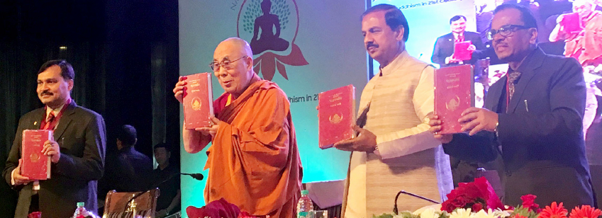 Minister of State for Culture and Tourism (I/C), Dr. Mahesh Sharma and His Holiness the Dalai Lama a...