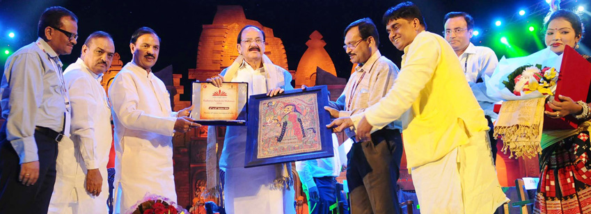 The Union Minister , Shri M. Venkaiah Naidu at the Rashtriya Sanskriti Mahotsav-2016, organised by the Ministry of Culture, in New Delhi on October 19, 2016. The Minister of State for Culture and Tourism (I/C), Dr. Mahesh Sharma, the Secretary, Shri N.K. Sinha and other dignitaries are also seen.