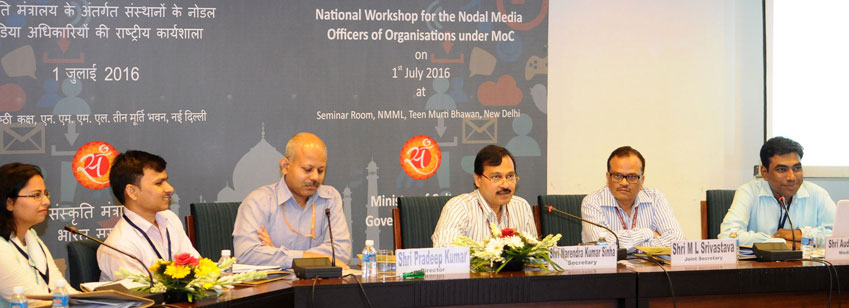 The Secretary, Ministry of Culture, Shri N.K. Sinha delivering the inaugural address at a National Workshop for the Nodal Media Officers of the Organisations under the Ministry of Culture, in New Delhi on July 01, 2016