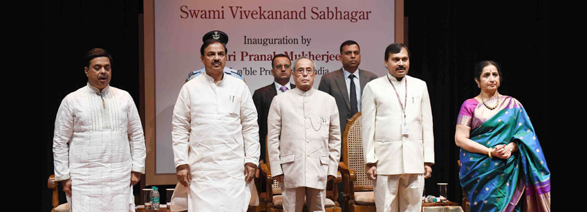 The President, Shri Pranab Mukherjee at the inauguration of the Swami Vivekananda Sabhagar at Kathak Kendra of Sangeet Natak Akademi, in Kathak Kendra, Chanakyapuri, New Delhi on July 04, 2016.